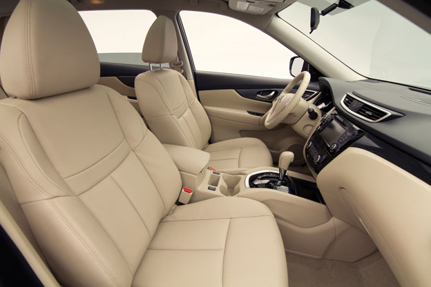 Interior view of the 2014 Nissan Rogue SL AWD.