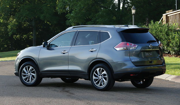 Exterior view of the 2014 Nissan Rogue SL AWD.