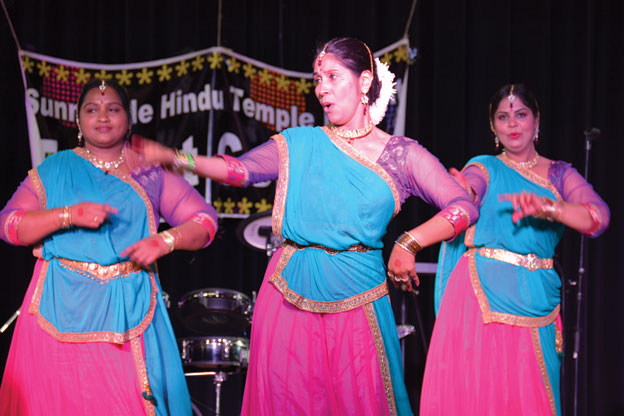 (Above): Talent Show at Sunnyvale Hindu Temple Diwali Mela. [Photo: Amar D. Gupta | Siliconeer]
