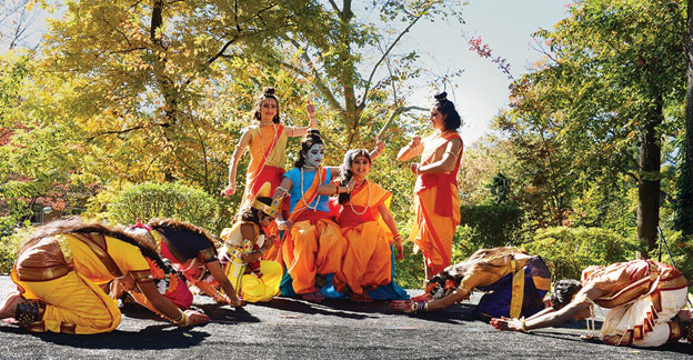 (Above): A cultural show to mark Diwali at the Indian Embassy, Oct. 26. [Photo: Indian Embassy, Washington, D.C.]