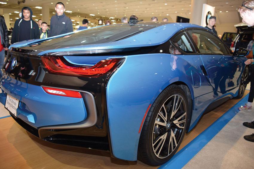 BMW i8 electric performance car. (Amar D. Gupta   Siliconeer)