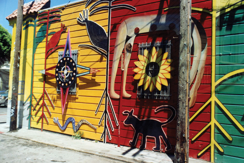 Colorful murals painted on the walls in San Francisco's Mission district. (Al Auger)