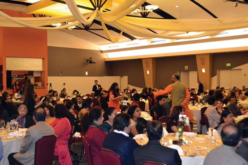 A view of the packed auditorium during the Akshaya Patra USA's Bay Area benefit gala event at India Community Center in Milpitas, Calif., Dec. 6. (Photo: Akshaya Patra USA)