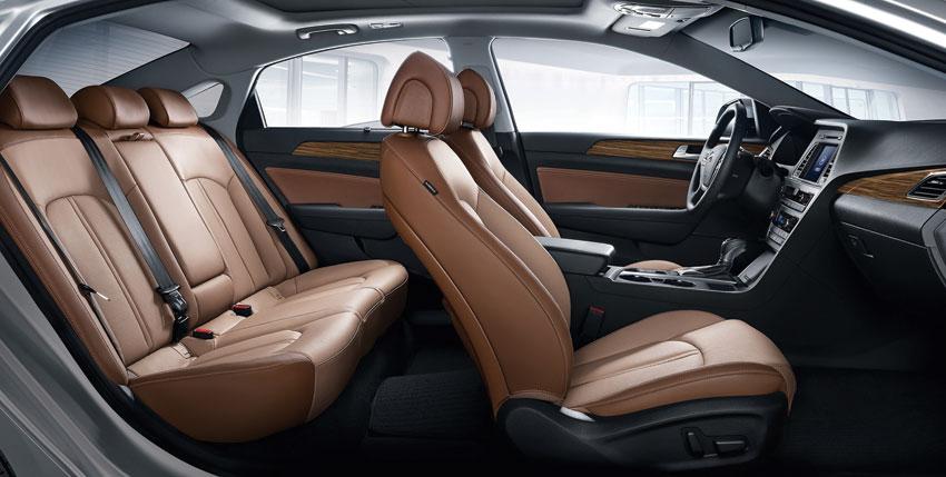 Interior view of the 2015 Hyundai Sonata.