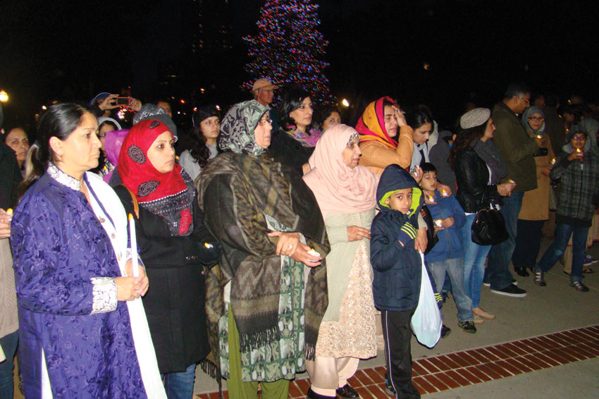 Families at the Candlelight Vigil in Sacramento.