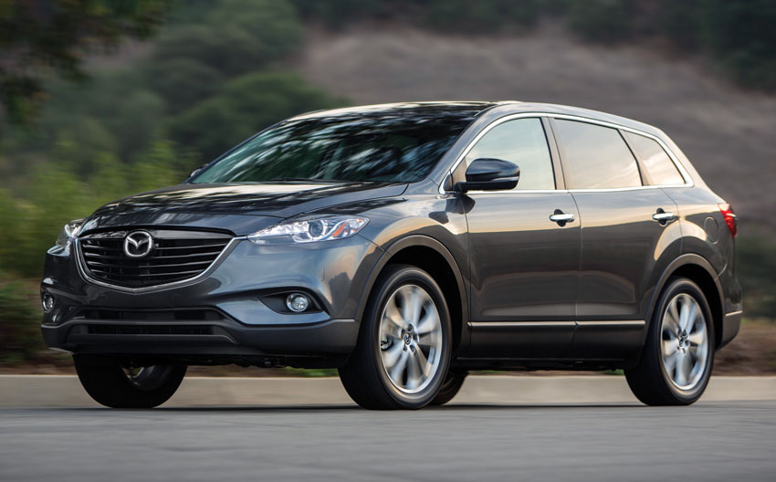 Exterior view of the 2015 Mazda CX-9