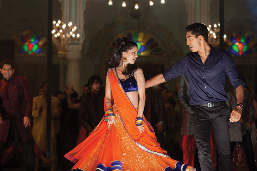"Tina Desai and Dev Patel (r) in ""The Second Best Exotic Marigold Hotel."""