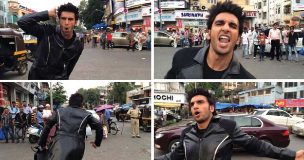 "Ranveer Singh doing his dare for ""Bang Bang."" [Photo Courtesy: Twitter 