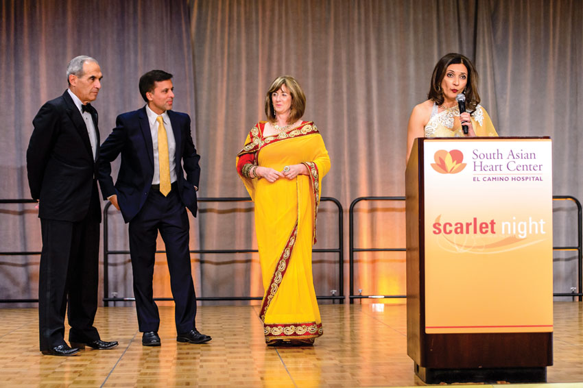 Dr. Vince Gaudiani, PAMF, Dr. Ron Sinha, PAMF, Tomi Ryba CEO of El Camino Hospital and Sheetal Singhal, emcee.
