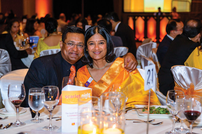 Expansion donors Priya Dharan, chair of marketing, South Asian Heart Center with husband Murali Dharan.