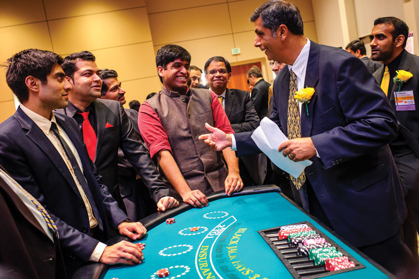 Vineet Sharma (r) takes charge at the Casino.