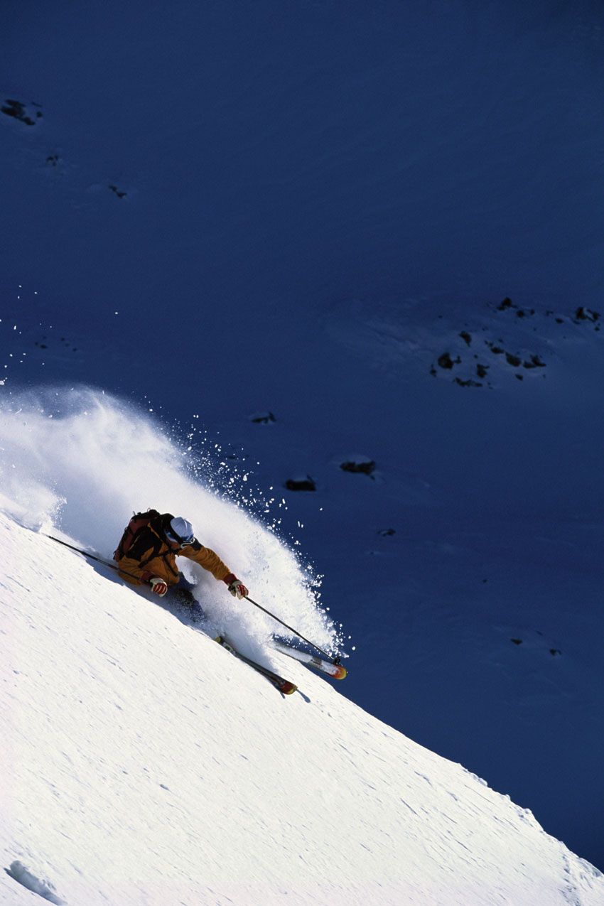 A skier at the Verbier ski area.