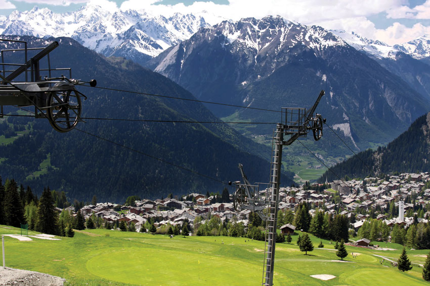 A view of the Verbier village.