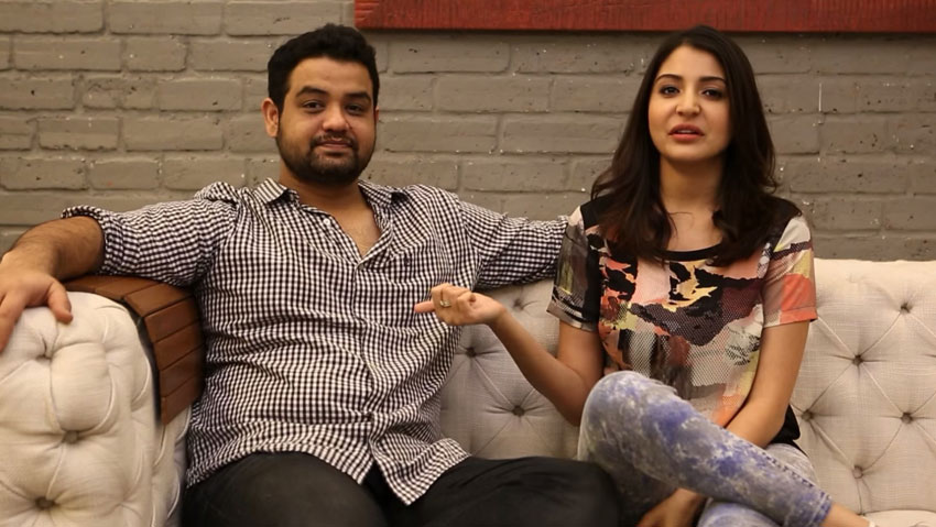 Anushka Sharma shared the couch with her brother.