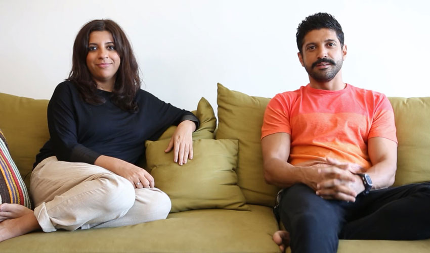 Farhan was joined by his sister, who is also the film's director, Zoya Akhtar.