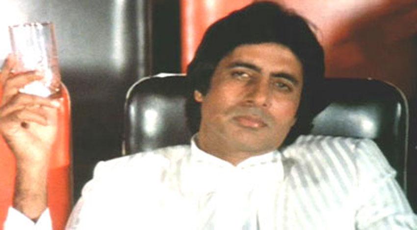 """Amitabh Bachchan in a scene from """"Sharabi."""""""