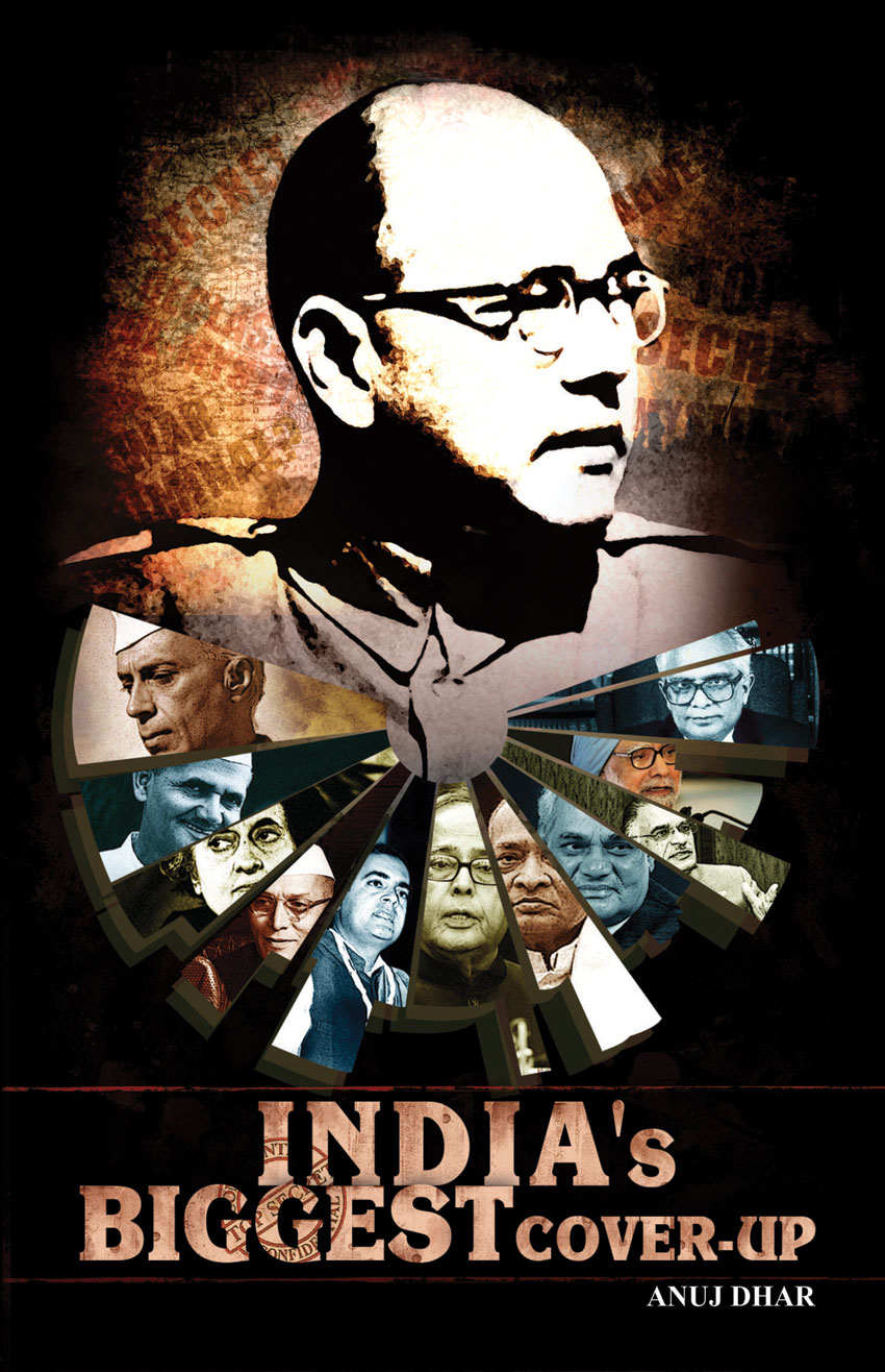 "Cover of ""India's Biggest Cover-up,"" a book Anuj Dhar."