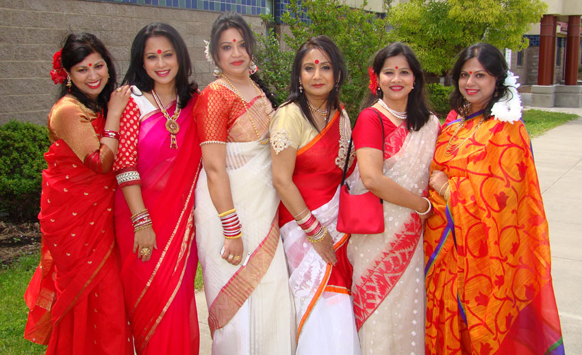 Bengali ladies at Davis, Calif. event. (Ras Siddiqui)