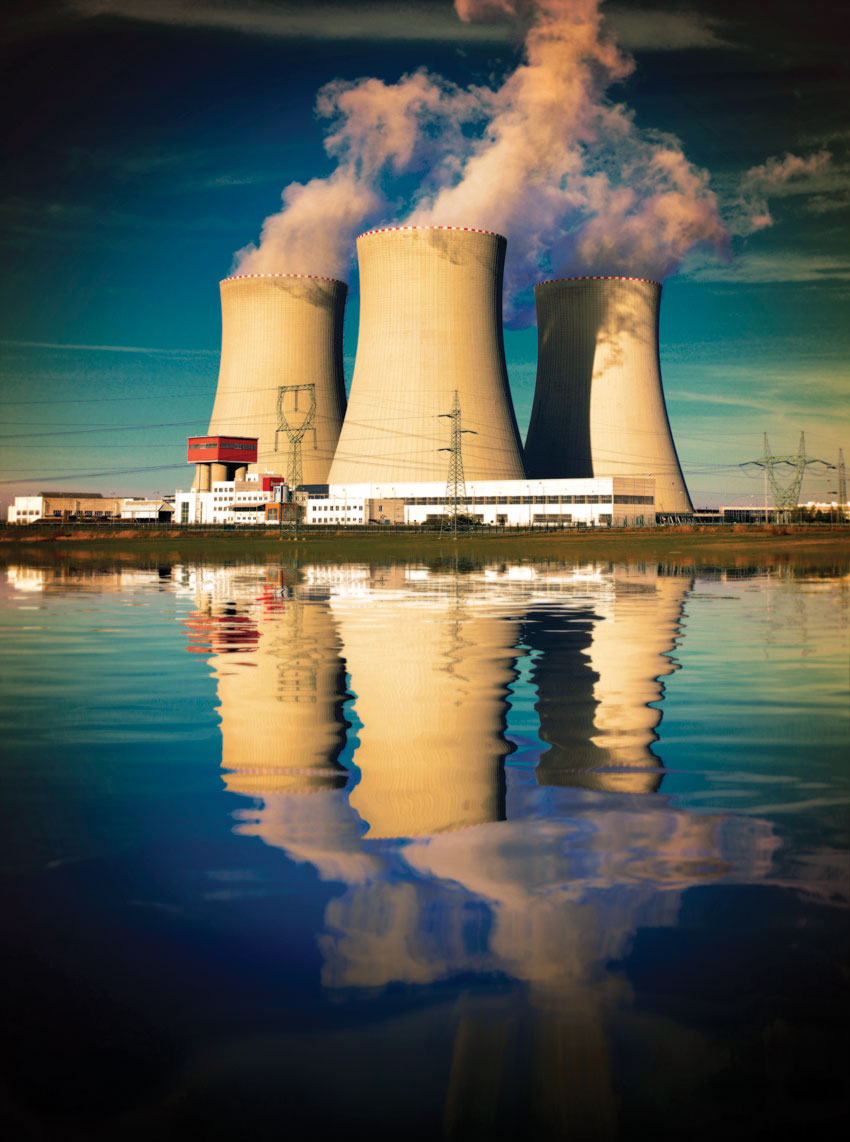 Nuclear reactors at a nuclear power plant.