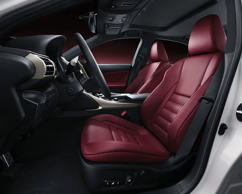 Interior view of the 2015 Lexus IS250.
