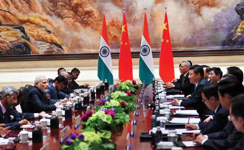 Prime Minister Narendra Modi and Chinese President  Xi Jinping during a delegation level meeting in Xi'an, Shaanxi Province, China, May 14. (Shahbaz Khan   PTI)