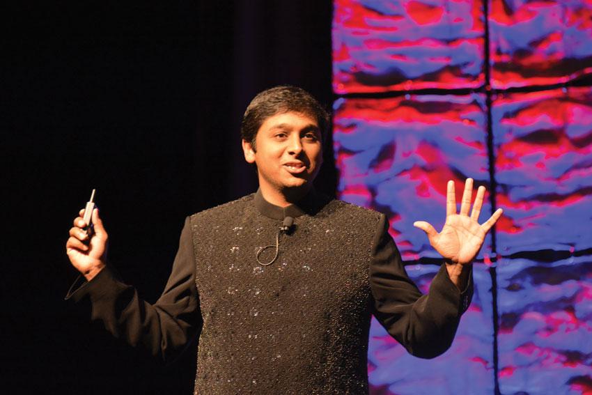 Artist and tech entrepreneur Raghava KK presenting a keynote at #TiEcon 2015. Amar D. Gupta | Siliconeer