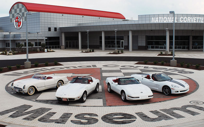 Generations of Corvettes. (National Corvette Museum)