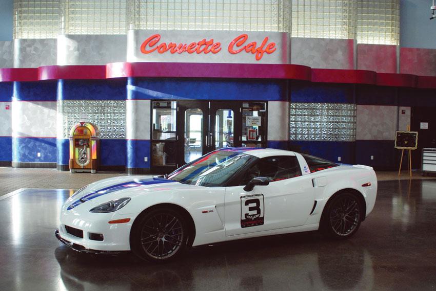 A view of the Corvette Café. (National Corvette Museum)