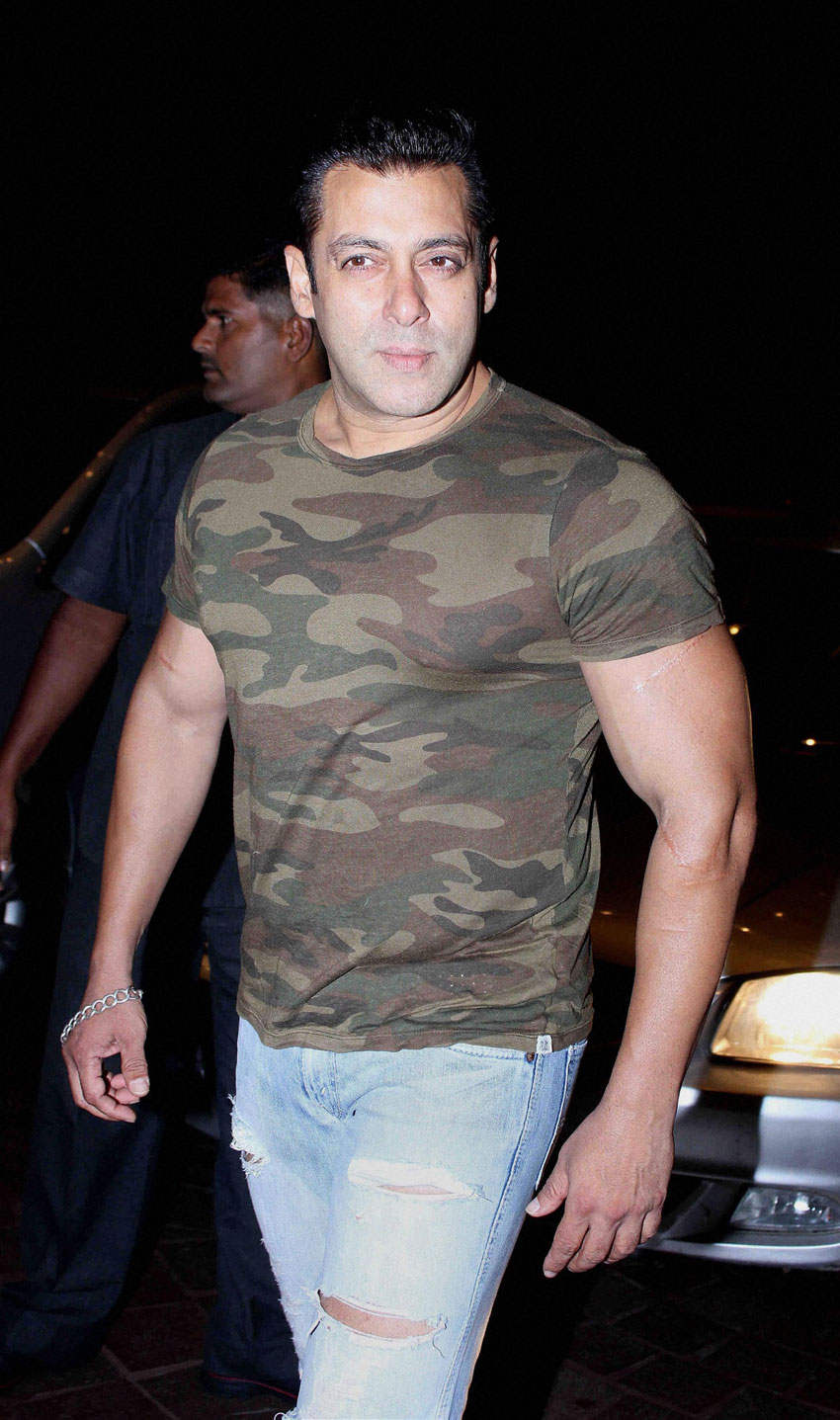Salman Khan spotted at Bandra in Mumbai, June 30. (Press Trust of India)