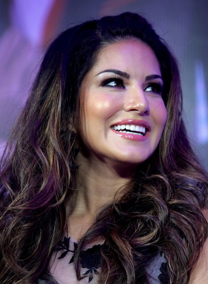 Sunny Leone at a press conference in Mumbai, June 30. (Press Trust of India)