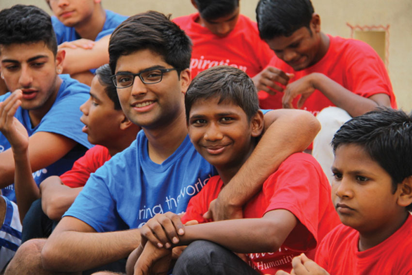 Volunteer Hursh Desai. (Tapan Parikh Photography)