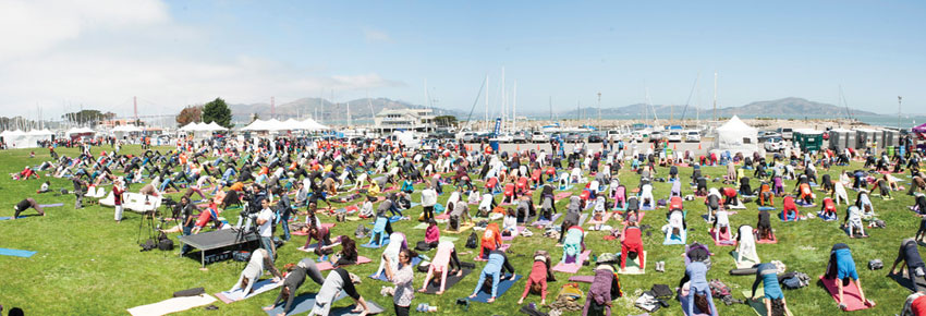 Glimpses of the International Yoga Day festivities in San Francisco, June 21. (Mahendra Singh)