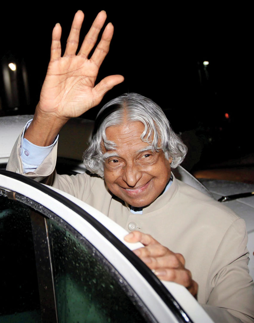File photo of former President A.P.J. Abdul Kalam in Mumbai in June 2010. Kalam passed away in Shillong, July 27. He was 83. (Press Trust of India)