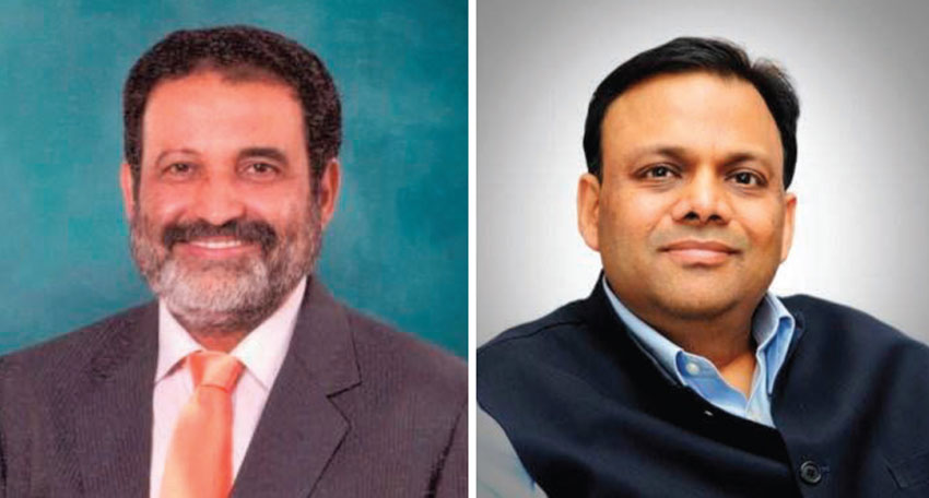 Akshaya Patra India co-founder T.V. Mohandas Pai and Head of technology at BJP Arvind Gupta.