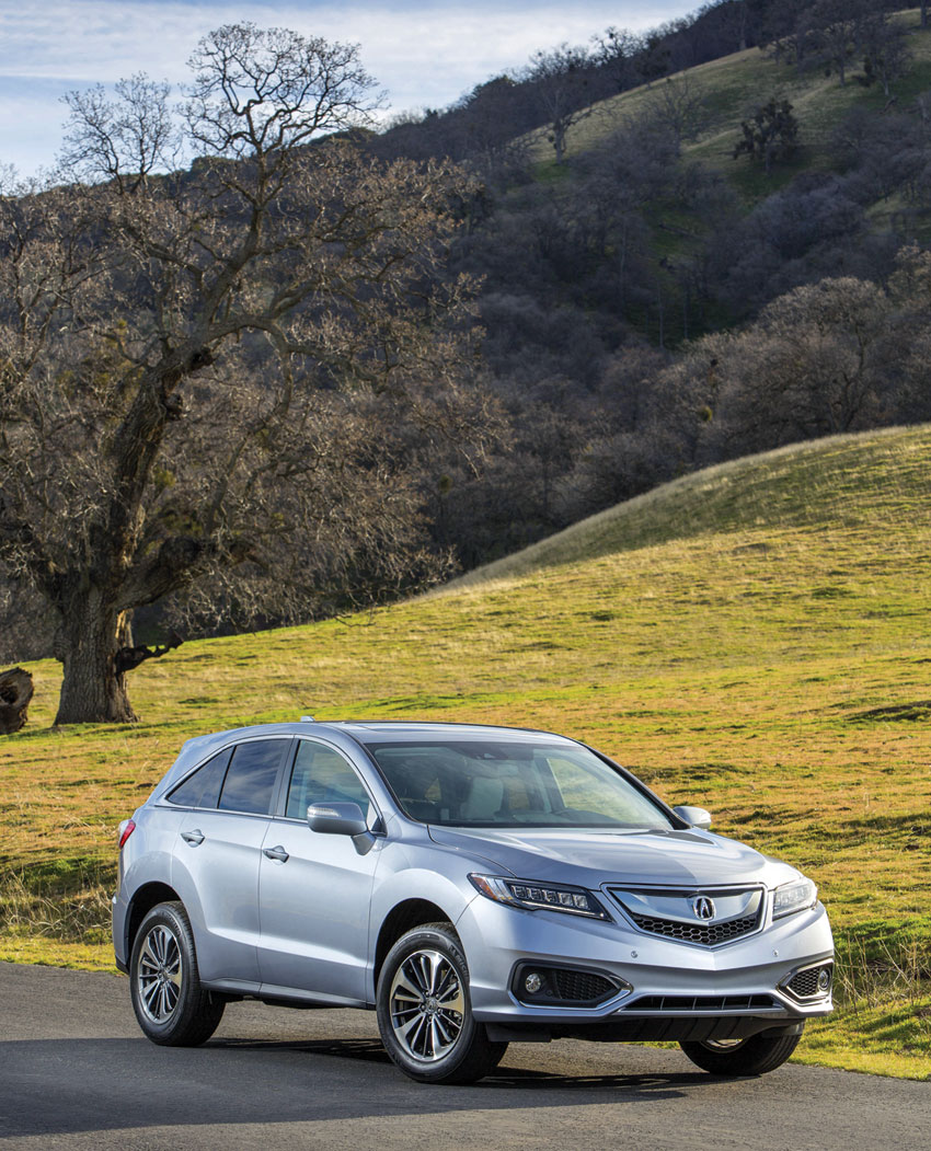 Exterior view of the 2016 Acura RDX with AWD and Advance Package.