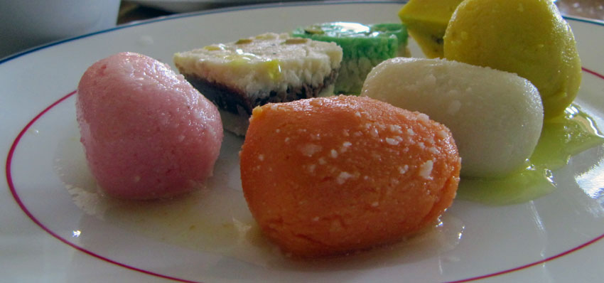 A variety of mouthwatering sweets.