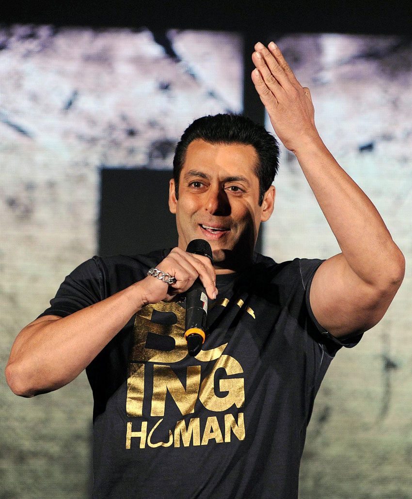 Salman Khan with during a music launch event in Mumbai, Sept. 7. (Press Trust of India)