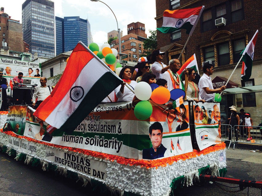 India's 69th Independence Day celebrations in New York.
