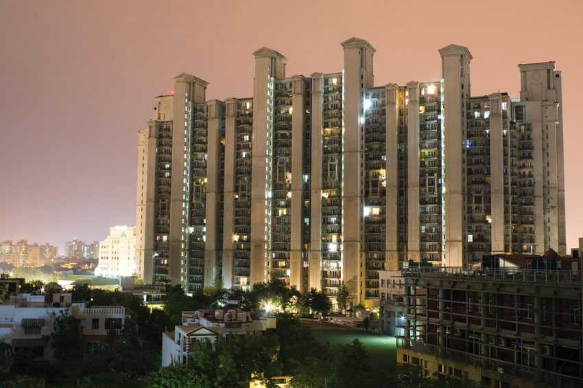 Apartments in Gurgaon on the outskirts of Delhi.