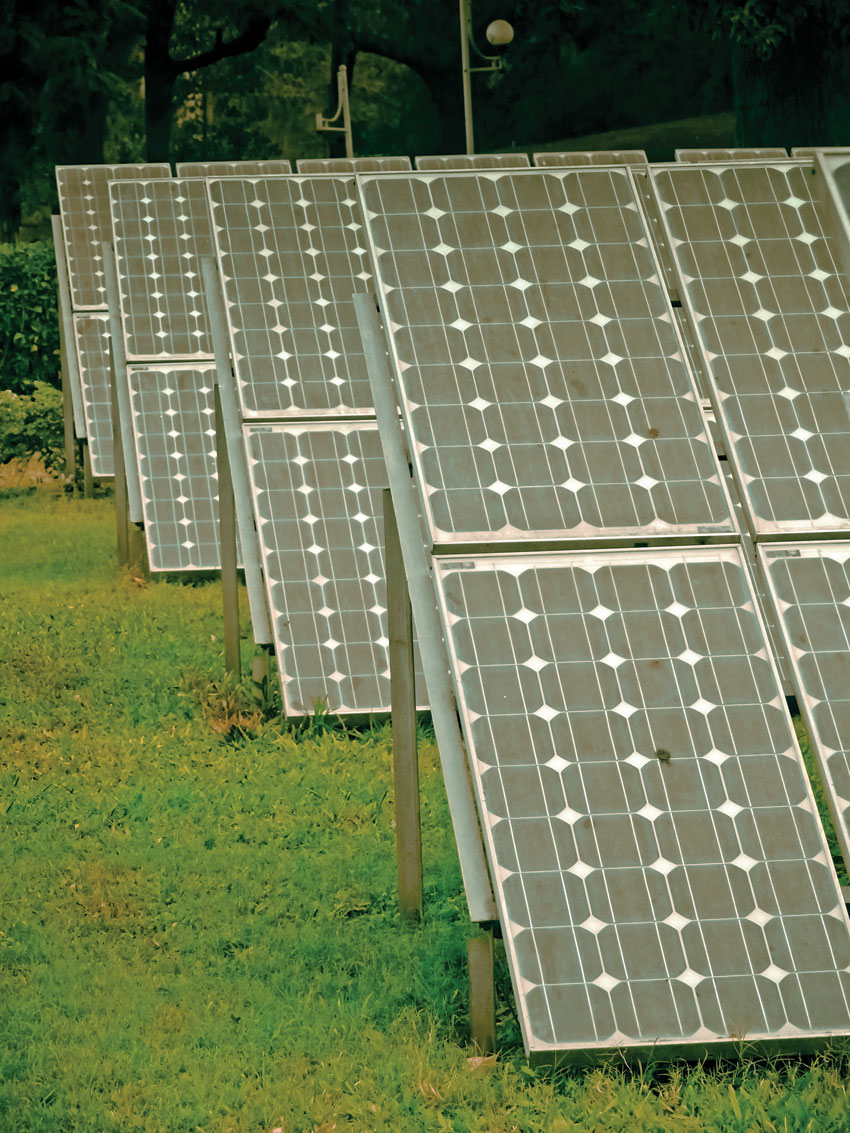 Solar panel installations like the one above need huge areas of land.