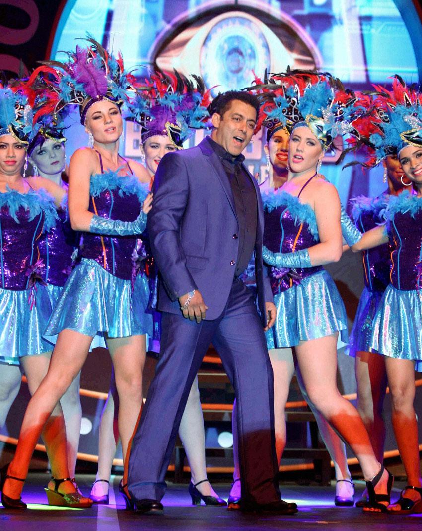 "Salman Khan at a press conference for the launch of reality television show – Bigg Boss 9 ""Double Trouble"" in Mumbai, Sept. 28. (Press Trust of India)"
