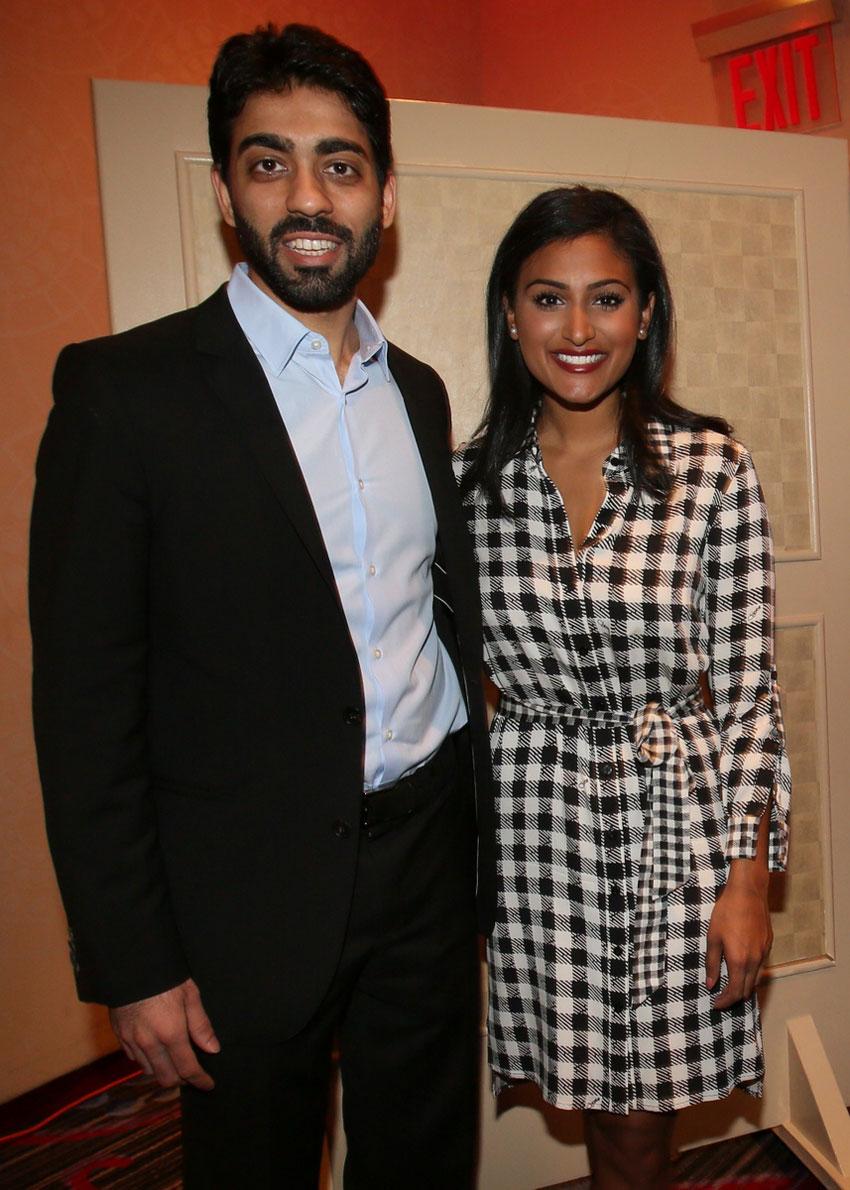 Dhruv Marwaha with Nina Davuluri.