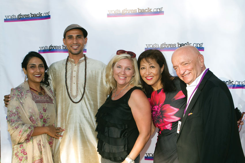 Siva Mohan, Zaire Black, Michelle Westfort (auctioneer),Kayoko Mitsumatsu and Ken Atchity. (Amy Tierney | Thrive Images)