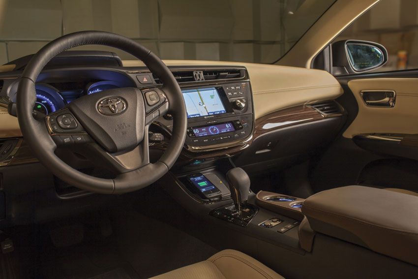 Interior view of the Toyota Avalon.
