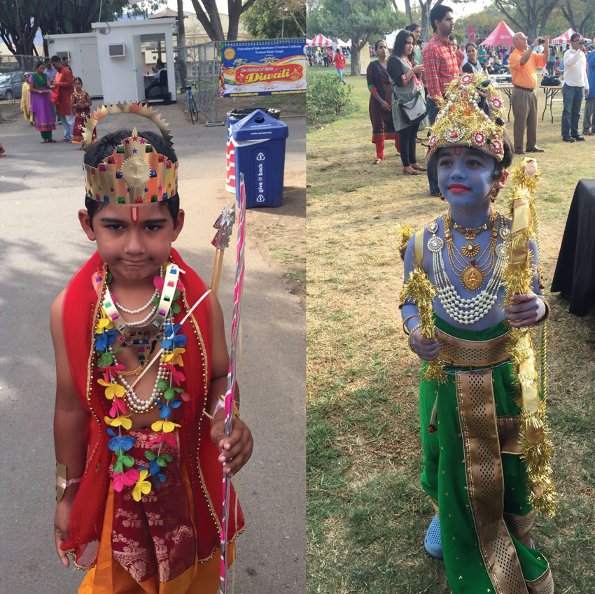 "Kids dressed as ""Lord Rama."" (Courtesy: Ritu Maheshwari)"