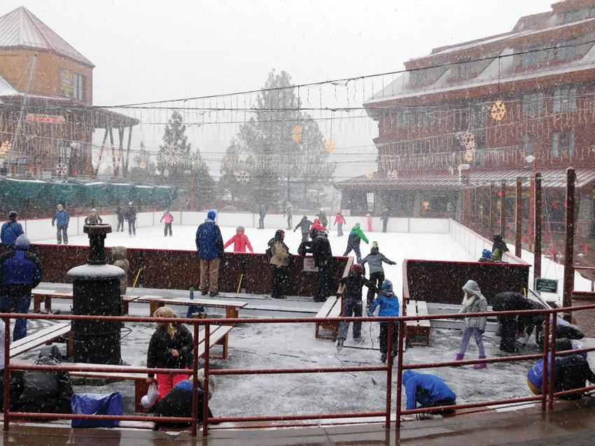 Ice skating in Winter wonderland as it was snowing, super fun! (Vansh A. Gupta | Siliconeer)