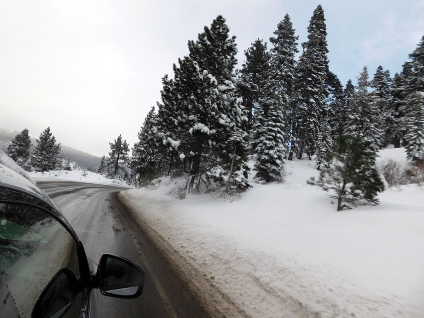 The snow followed us all the way to Placerville. Impressive. (Vansh A. Gupta | Siliconeer)