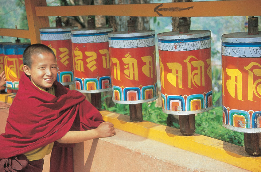 Young Lama, Enchey Monastery, Sikkim. (Incredible India)