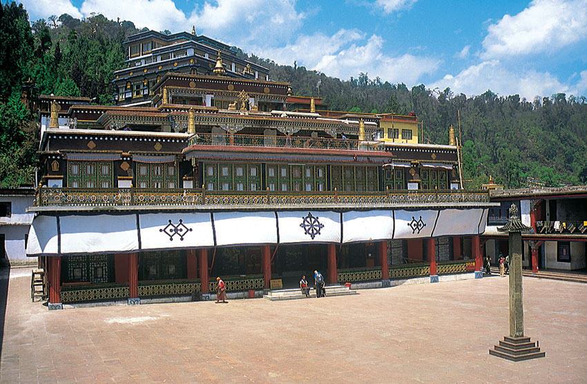 Rumtek Monastery, Sikkim. (Incredible India)