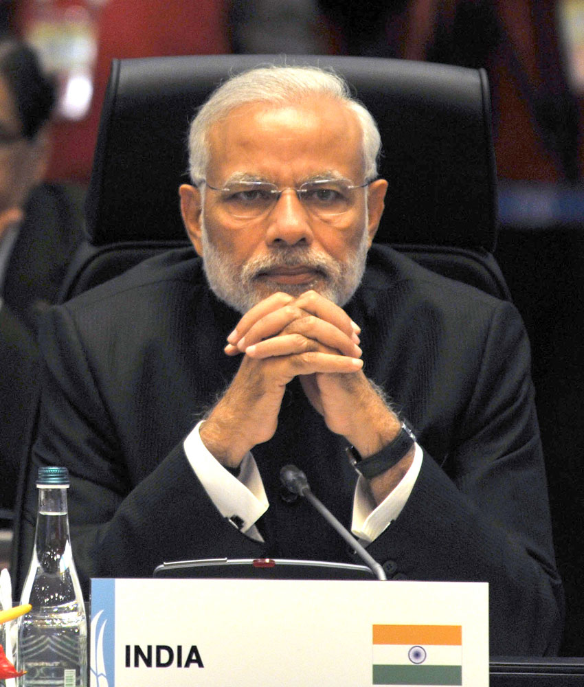 Prime Minister Modi at the G20 Summit working session, in Turkey, Nov. 15. (Press Information Bureau)